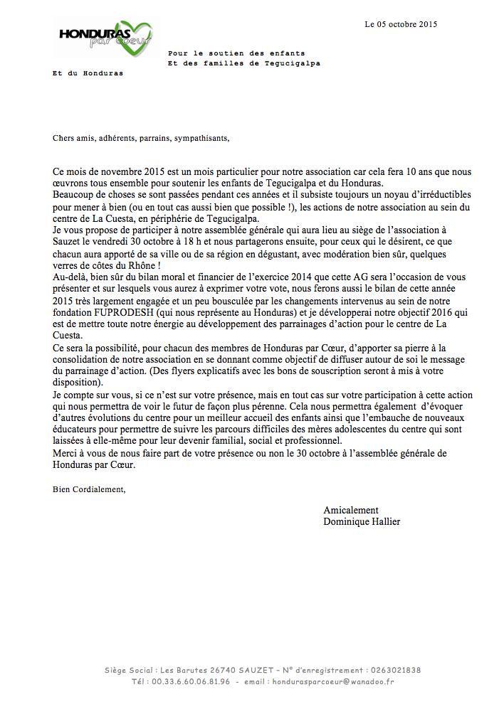 Ag 2015 lettre dominique hallier 30 oct 16
