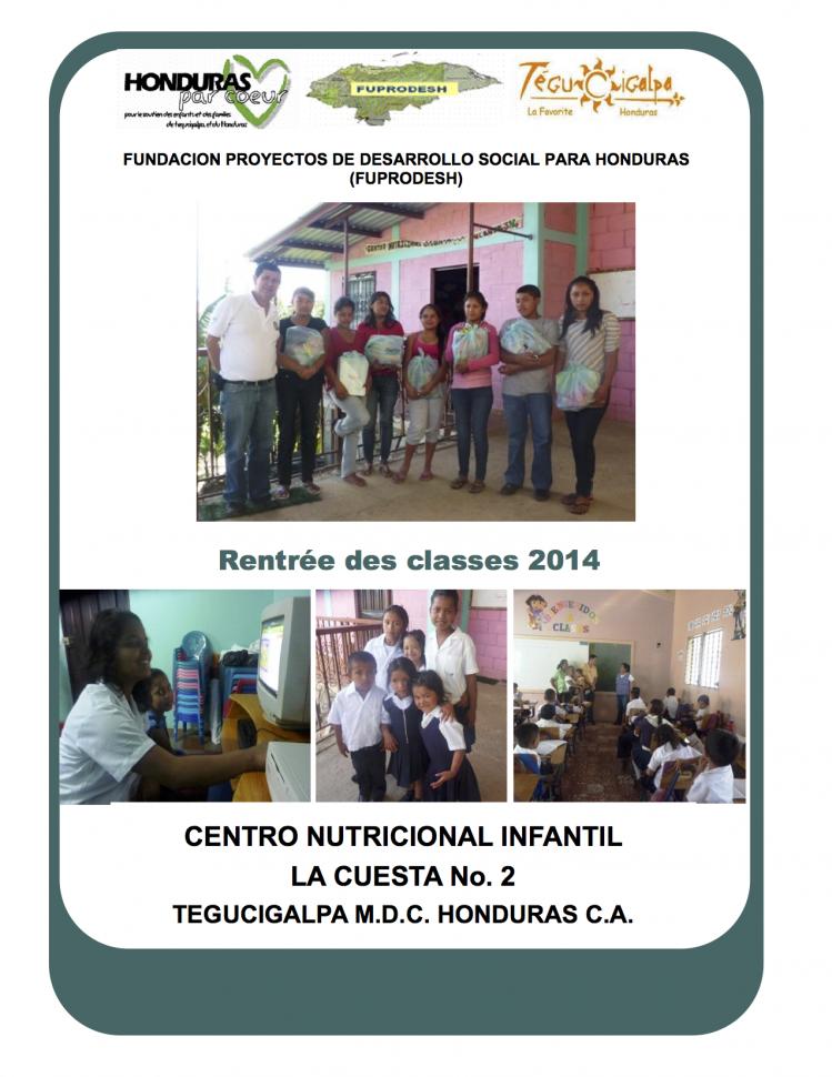 1er trimestre 2014: Lettre d'Eduardo FAJARDO aux parrains
