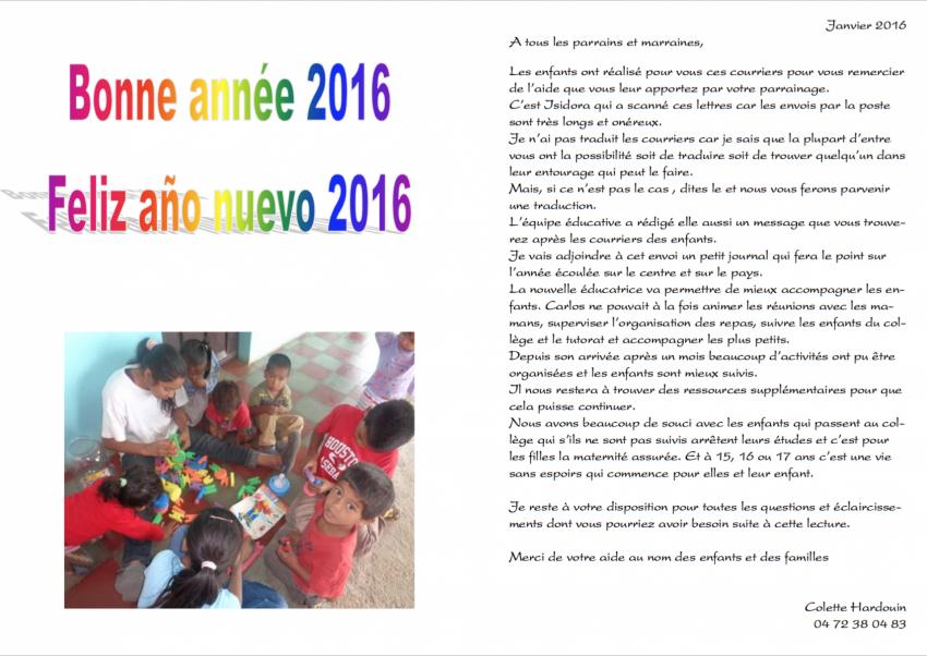 Voeux 2016 et infos aux parrains 15 jan 16 p1